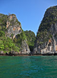 A secluded cove off the coast of Thailand Royalty Free Stock Image