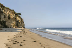 Secluded Dume Cove Beach in Malibu. Afternoon at secluded Dume Cove Beach in Malibu, California Royalty Free Stock Image
