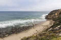 Secluded Dume Cove Beach in Malibu California Stock Images
