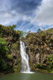 Secluded jungle waterfall Royalty Free Stock Photography