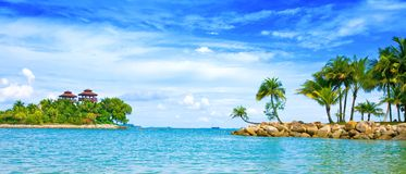 Secluded lagoon in the tropics Stock Images