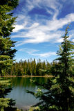 Secluded lake. In Oregon Mountains Royalty Free Stock Photo