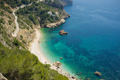 Secluded Mediterranean beach Royalty Free Stock Photos