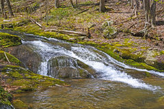 Secluded Mountain Cascade in Early Spring Royalty Free Stock Photography
