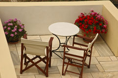 A Secluded Patio Royalty Free Stock Photos