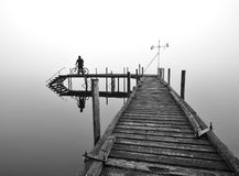 Secluded Pier at Lake Brunner Stock Photography