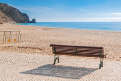 Secluded place for meditations on the sea shore. Stock Photo