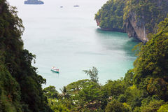 Secluded private bay at Thailand royalty free stock image