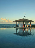 A secluded private gazebo on the ocean Royalty Free Stock Image