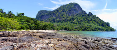Secluded Sabai Beach at Mook island Stock Images