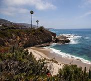 Secluded Southern California beach Stock Images