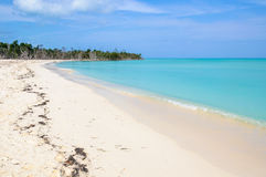 Secluded white sand beach in Cayo Levisa Island in Cuba Stock Photos