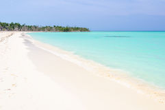 Secluded white sand beach in Cayo Levisa Island in Cuba Royalty Free Stock Images