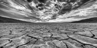 Seco del desierto lakebed Imagen de archivo