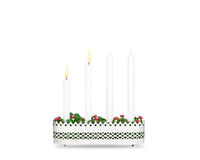 Second Advent candlestick isolated on white background. Stock Photos