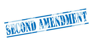 Second amendment blue stamp Royalty Free Stock Image