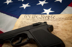 The second amendment. (Amendment II) to the United States Constitution protects the right of the people to keep and bear arms and was adopted on December 15 Royalty Free Stock Photos