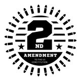 Second Amendment to the US Constitution to permit possession of weapons. Vector illustration on white Stock Photography