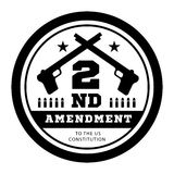 Second Amendment to the US Constitution to permit possession of weapons. Vector illustration on white Stock Photos