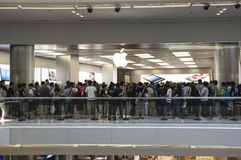 Second Apple Store of Hong Kong. Apple Store Festival Walk is Second store of Hong Kong Royalty Free Stock Images