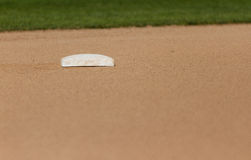 Second Base. On softball field Stock Images