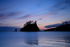 Second Beach Sunset. Long exposure at Second Beach, Olympic Nation Park at Sunset Stock Photos