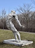 Second Breath. This is an early Spring picture of a piece of public art titled: Second Breath, on display at the Skokie Northshore Sculpture Park located in Royalty Free Stock Photo