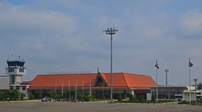 Siem Reap International Airport building nearby the popular tourist destination Angkor Wat. This is the second busiest airport in Cambodia after Phnom Penh royalty free stock photography