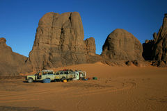 Second Camp in Sahara Stock Photography
