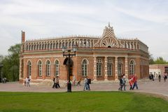 The second cavalier building of Tsaritsyno Palace Stock Photography
