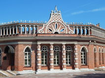 The second cavalry building in Tsaritsyno museum and reserve. Tsaritsyno park in Moscow. July, 2014 Stock Photos