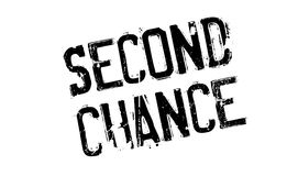 Second Chance rubber stamp. Grunge design with dust scratches. Effects can be easily removed for a clean, crisp look. Color is easily changed stock illustration