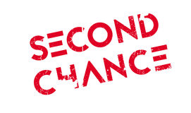 Second Chance rubber stamp. Grunge design with dust scratches. Effects can be easily removed for a clean, crisp look. Color is easily changed vector illustration