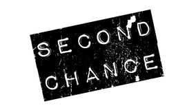 Second Chance rubber stamp. Grunge design with dust scratches. Effects can be easily removed for a clean, crisp look. Color is easily changed royalty free illustration