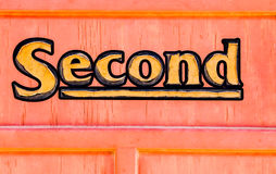 Second class sign Royalty Free Stock Image