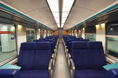 Second class wagon interior Royalty Free Stock Photography
