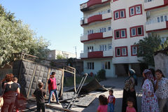 SECOND CURFEW LIFTED IN CIZRE. Stock Photo