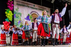 The second ethnic festival Bobovischenske Grono was held in Zaka royalty free stock image