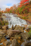 Second Falls Graveyard Fields North Carolina Autumn. Second Falls is the lower waterfall at Graveyard Fields at Milepost 418.8 on the Blue Ridge Parkway between stock photos