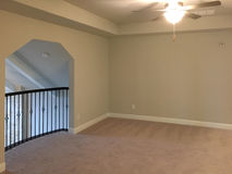 Second floor family room in a new house Stock Images