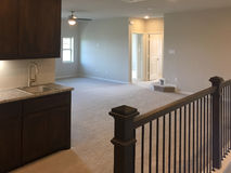 Second floor family room  in new house Stock Image