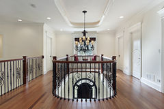 Second floor landing in luxury home Stock Photography