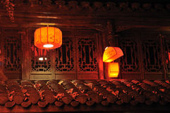 Second-floor lanterns Royalty Free Stock Photos