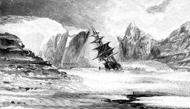 Second Grinnell Arctic Expedition, vintage illustration Stock Image