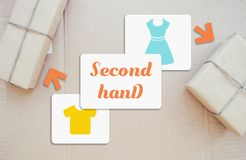 Second han. D store online van Royalty Free Stock Photography
