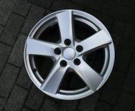 Second hand alloy wheels in store, Aluminium Alloy rims. royalty free stock photos