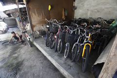 Second hand bike market Royalty Free Stock Images