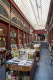 Second-hand bookshop, Brussels. Brussels, Belgium - July 31, 2015: Second-hand bookshop situated in the Bortier Gallery in Brussels royalty free stock image