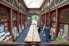 Second-hand bookshop situated in the Bortier Gallery in Brussels Royalty Free Stock Image