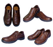 Second hand brown leather shoes for men Royalty Free Stock Image